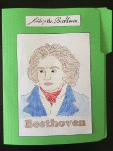 Here's the cover of the Beethoven Lap Book!