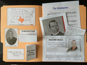 Inside of Joplin lapbook!
